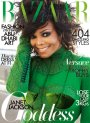 Janet Jackson Goes Green for Harper's Bazaar Arabia
